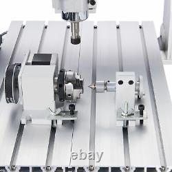 4-Axis Engraving Carving Milling Machine CNC Router w Rotary Axis for Wood More