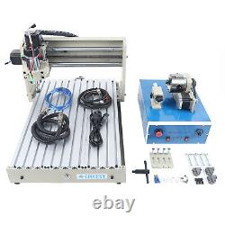 4 Axis USB CNC3040 Router 3D Engraver Engraving Drilling Milling DIY Machine400W