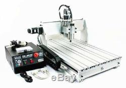 4 Axis USB MACH3 6040Z 2200W Desktop Engraver Cutting Milling Machine CNC Router