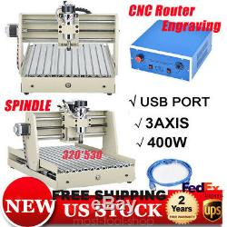 400W 3Axis USB CNC 3040 Router Engraver Drilling, Milling Motor 3D Cutter VFD UPS