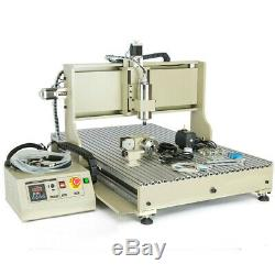 4Axis 6090 USB CNC Router Engraver 1.5KW 3D Engraving Milling Machine+Controller