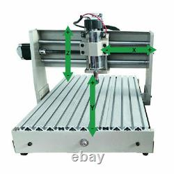 4Axis CNC 3040T Engraving Milling Machine 3D Engraver Drilling USB Router+Remote