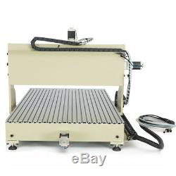4axis 6090 CNC Router Engraver Machine Milling Metal Steel USB 2.2KW VFD+ Remote