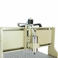 4axis CNC 6090 Router Milling Engraving Machine Carving Cutting Machine 1500W+RC