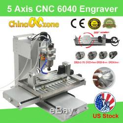 5 Axis CNC 6040 Router 3D Cutting Milling Engraving machines Engraver 2200W US