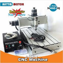 500W 3 Axis 3040Z-DQ Desktop 3040 CNC Router Engraving Milling Machine 220/110V