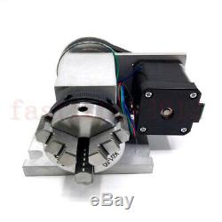 50mm Rotary Axis 4th-axis CNC Router Rotational A-axis + tailstock for Milling