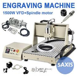 5axis USB 1.5KW CNC 6040Z Router Engraving Machine Metal Milling Cutting Machine