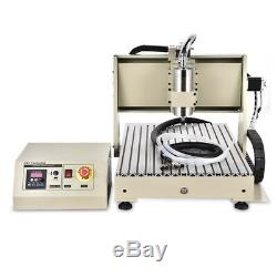 6040 CNC 4 Axis Engraving Mill Drill USB Carving Maching 1500W VFD 3D Cutter