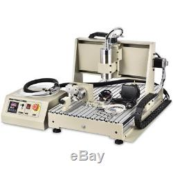 6040 Engraving Machine CNC Router 4 Axis 1500W 3D Carving Mill Drill + Control