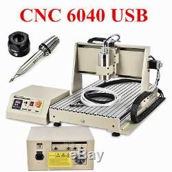 6040 USB 3 Axis CNC Router Engraver 1.5KW VFD Engaving Milling Graviermaschine