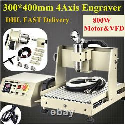 800W 4 axis CNC 3040 router water cooled metal cutter milling engraving machine