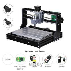CNC 3018 Machine Router 3 Axis Engraving PCB Wood DIY Milling Engraver New X1F9