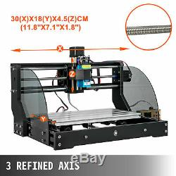 CNC 3018 PRO Machine Router 3 Axis Engraving PCB Wood DIY Mill+500mw Laser Head