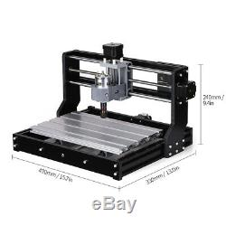 CNC 3018 PRO Machine Router 3Axis Engraving PCB Wood DIY Milling Engraver K8B1