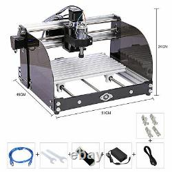 CNC 3018 PRO Router 3 Axis Engraver Engraving Milling Machine +5500mw Laser Head
