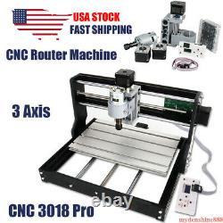 CNC 3018 Pro DIY Router Engraving Machine 3 Axis Milling Drill Machine Wood PCB