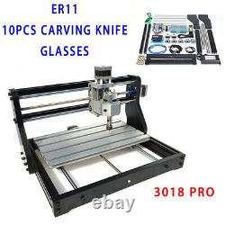 CNC 3018PRO DIY Laser Engraver 3axis PCB Milling Machine Router withGRBL Control