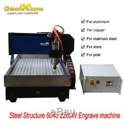 CNC 3axis 6040 2.2KW Router Engraver Metal Stainless Steel DIY Milling Machine