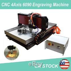 CNC 4axis Engraving Machine Steel 6090 Router Milling Cutting Carving Engraver