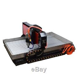 CNC 6090 4axis 2.2KW Engraving Machine Steel Metal Milling Router For Metal US