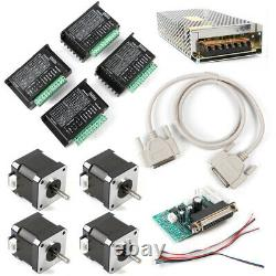 CNC Kit 4 Axis Breakout Board & Nema17 Stepper Motor For DIY Router/Mill/Plasma
