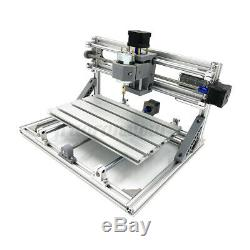 CNC Mini Machine Router 3 Axis Engraving PCB Wood DIY Mill+500mw Laser Head USA