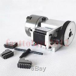 CNC Rotary Axis 4th a Axis 3 Jaw 100mm Chuck Router Rotational for CNC Milling