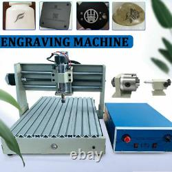CNC Router 4 Axis USB 3040 Wood Engraving Milling Cutting Engraver Machine 400W