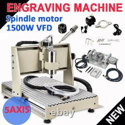 CNC Router 5 AXIS 6040 Engraving Machine Metal Milling Machine 1.5KW USB Port US