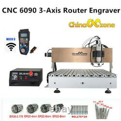 CNC Router 6090 3-Axis Milling Engraver Engraving USB Cutting Mahcine 2200W