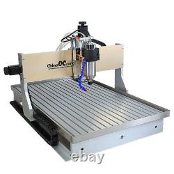 CNC Router 6090 3Axis Milling Engraving Machine 2.2KW DIY Cutting Machine & Sink
