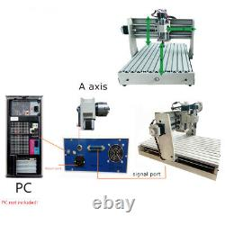 CNC Router Engraver 4 Axis USB 1.5KW VFD 6040 CNC Engraving Drilling Milling