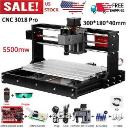 CNC3018PRO DIY Wood Router Engraving 3 Axi. S Pcb Milling Machine & 5500mW Y3A4