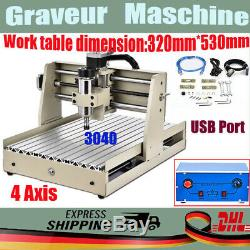 CNC3040T 4 AXIS USB Router Engraver 400W Engraving 3D Drilling Milling Machine