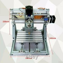 DIY 3Axis CNC Router Engraver 500MW Laser Cutter Head Machine Milling Metal Wood