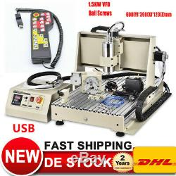 EU Stock USB 4 Axis 1.5KW 6040 CNC Router Engraver Milling Machine + Controller