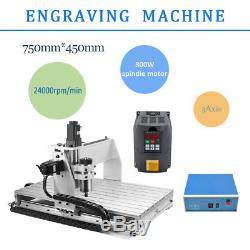Engraving Drilling 3 Axis 6040 Desktop CNC Router Engraver Milling Machine USA