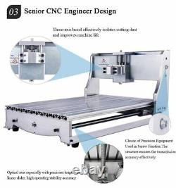 Engraving Milling Machine Bed CNC Router Frame Kit Wood Carving With Rotary Axis
