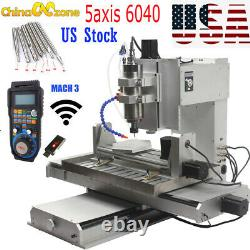 HY-6040 5 Axis 2200W CNC Aluninum Router Machine for Drilling Milling Engraver