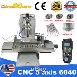 MINI CNC 5Axis 6040 2200W Engraving Milling Machine For Aluminum Router US Stock