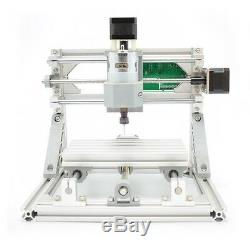 Mini 3 Axis DIY CNC 1610+ Router Kit Engraver Milling Machine+ER11+2500mW Laser
