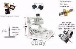 Mini 3 Axis DIY CNC 1610 Router USB Wood Engraver PCB Milling Machine with ER11