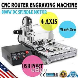 New CNC6040Z 4 Axis USB Router Engraver Engraving Drilling Milling Machine