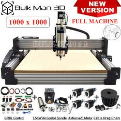 Newest 4Axis Workbee CNC Router Machine Full Kit with Tension System CNC Mill