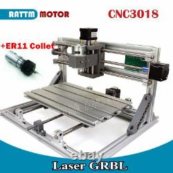 RUS3 Axis 3018 DIY GRBL Control Mini Laser Milling Machine Wood Router ER11