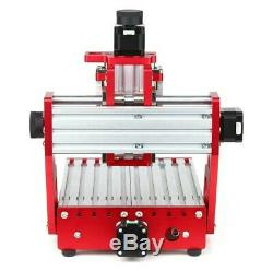 Red 1419 3 Axis Mini DIY CNC Router Standard Spindle Motor Wood Carving Engravin