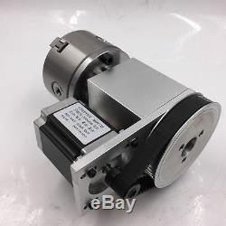 Rotary Axis 4th a Axis K11-100 Chuck Hollow Shaft for CNC Router Table Milling