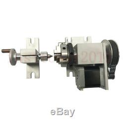 Rotary Axis 4th-axis CNC Router Rotational A-axis 3 Jaw for CNC Router Milling