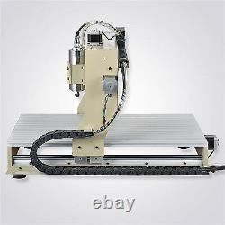 Steel 6040 4axis CNC Engraver Router DIY Milling/Cutting Machine For Aluminum CE